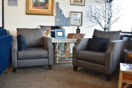 2 Grey Accent Chairs
