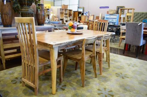 Tropical Salvage Dining Table and Chairs