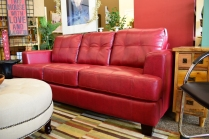 Red Sofa Bonded Leather