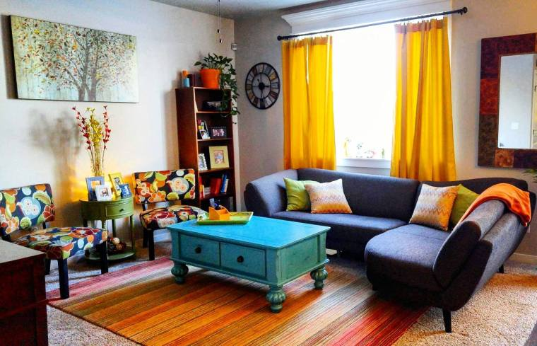 Colorful Living Room Group