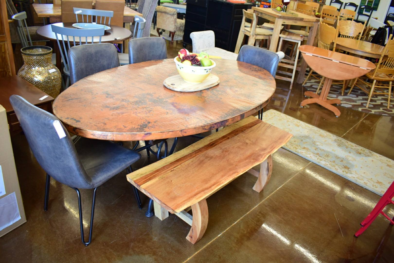 Copper Top Dining Table – The Recycled Room Consignment ...