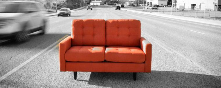 Orange Love Seat