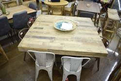 Giant square dining table