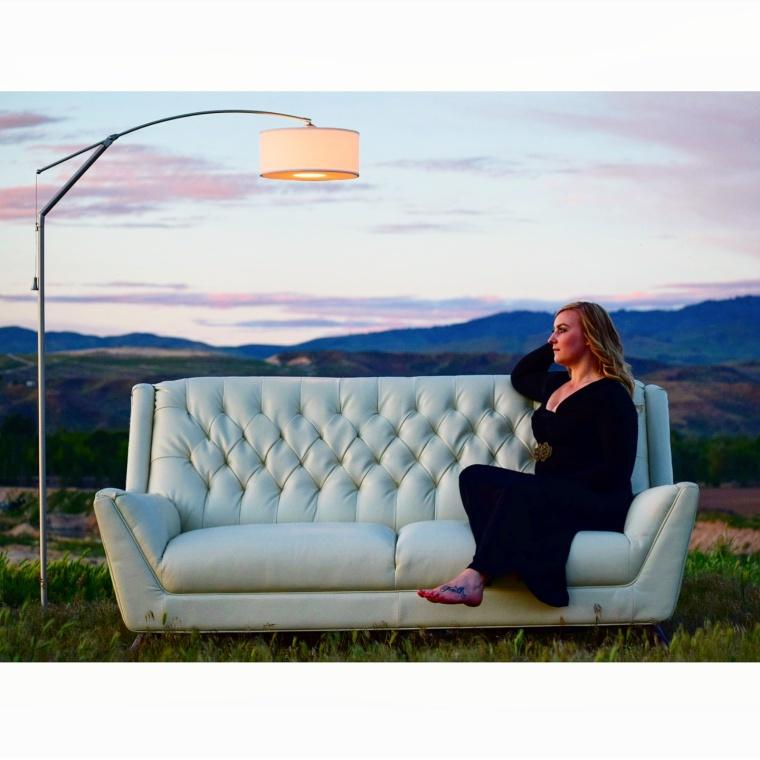White Mid Century Sofa