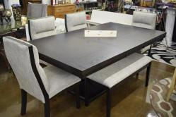 Grey and Black Dining