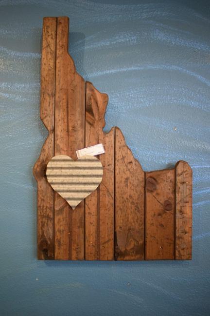 Idaho on wall