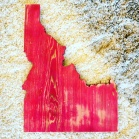 Red Idaho Sign