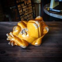 Cute Yellow Ceramic Frog