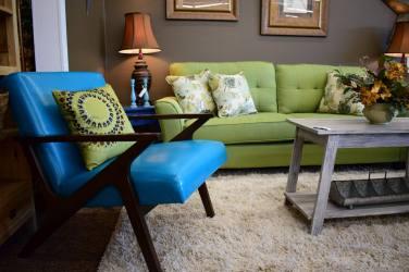 Mid Century Blue Chair