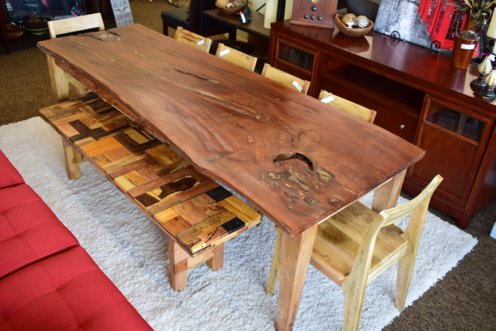 Great Tropical Salvage Dining Table