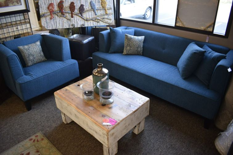 Teal Love Seat and Chair