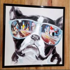 Frenchie Painting with Attitude