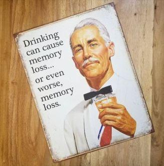 Drinking Sign Memory Loss